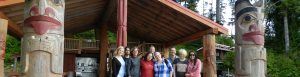 iSchool students, faculty and friends working with the Heiltsuk Cultural Education Centre