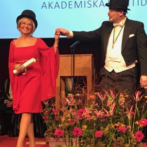 Luciana Duranti awarded an Honorary Doctorate by Mid-Sweden University